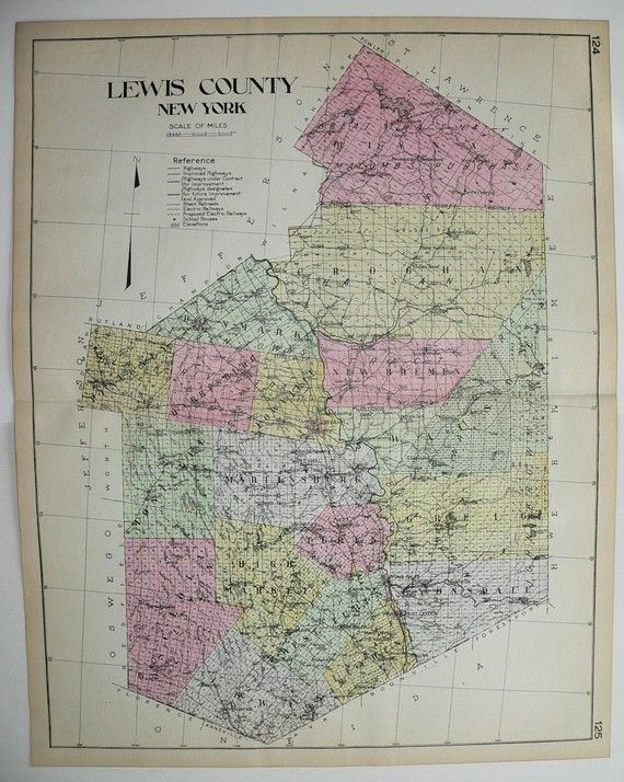 lowville antique map